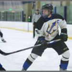ice hockey player with a hockey stick