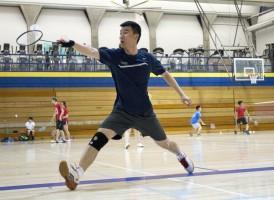 a badminton player